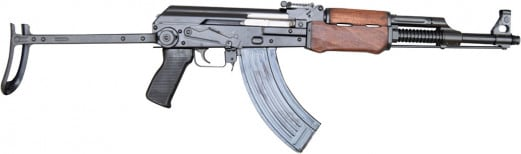 Yugo M72B1 RPK Paratrooper-style AK47, Underfolder With Heavy Finned Barrel by J.R.A.