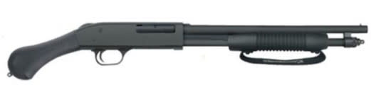 Mossberg 590 Shockwave .410 Bore Shotgun, 14in 6rd Black w/ Birds Synthetic Pistol Grip MS50649