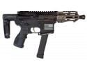 "Fostech Bulldog Tech-15 Semi-Automatic AR-15 Pistol 4.5"" Barrel 9mm 33rd - Echo AR-II Trigger, Deadfoot Arms SCW, Tailhook Brace Black-Tungsten - 8153BLK/TUN9MM-6230-4150"