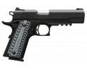 "Browning 051907492 1911-380 Black Label Pro with Rail SAO .380 ACP 4.25"" 8+1 NS Black G-10 Grip Black"