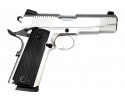 "SDS Imports 1911 Duty SS45 Compact Semi-Auto Pistol 4.25"" Barrel 45 ACP 8rd - Stainless Steel Finish - Upgraded Features"