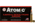 Atomic 00408 Tactical Cycling Subsonic 5.56 NATO 112 GR Soft Point Round Nose - 50rd Box