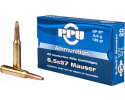 PPU PP6M Metric Rifle 6.5x57mm Mauser 139 GR Soft Point Boat Tail - 20rd Box