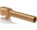 """CMC Triggers 75514 Match Precision Fluted Barrel compatible with Glock 17 Gen 3&4 9mm 4.48"""" 416rd Stainless Steel Bronze"""