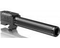 """CMC Triggers 75512 Match Precision Fluted Barrel compatible with Glock 17 Gen 3&4 9mm 4.48"""" 416rd Stainless Steel Black"""