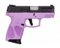 Taurus 1G2C93112LP G2CB 9MM Pistol, 12 Round, Black Slide-Light Purple Frame