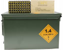 OMPC New Production 9MM Handgun Ammo, Nato Spec,115 GR FMJ, Brass Case, Boxer, Reloadable, N/C  - 1000 Round Ammo Can
