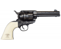 """1873 Single Action Revolver .45LC Liberty Model 4 3/4"""" Engraved - Blued, by Traditions"""
