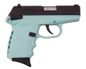 SCCY CPX-1 CBSB 9mm Polymer Frame Pistol, w/ Safety, Blued Steel Slide on Aqua Blue, DAO 10+1 w/ 2 Mags