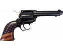 "Heritage Mfg Rough Rider Small Bore Single .22LR 4.75"" Blued, Antiqued US Flag Pattern Grips - R22B4GOLDUSA"