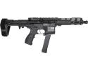"""Fostech Bradley Fighting Tech-15 Semi-Automatic AR-15 Pistol 7.5"""" Barrel 9mm - Includes ECHO AR-II Trigger & PDW Pistol Brace - 8150-BLK-9MM-6230-4150"""