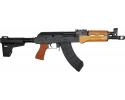 "Century Arms Enhanced VSKA Semi-Automatic AK-47 Pistol 10.5"" Barrel 7.62x39 30rd - W/ Shockwave Brace - Wood Furniture - HG6573-N"