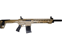 "AR-12 G4 Tactical, Semi Auto, AR-15 Style 12 Gauge Shotgun by Panzer Arms of Turkey, 3"" Chambers, Choke Tubes - Desert Tan Finish - AR12SDT"
