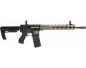 "Fostech Stryker Tech-15 Semi-Automatic AR-15 Rifle 16"" Barrel .223/5.56 30rd - Echo AR-II Trigger Installed - Black W/ FDE Rail - 8151BLK/FDE"