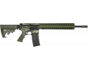 "RGuns RGQ Semi-Automatic AR-15 Rifle 16"" Heavy Barrel .223/5.56NATO 30rd - YHM Flash Suppressor - Free Float Rail - Tiger Stripe / OD Green Finish"
