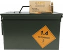 OMPC New Production 5.56 NATO Rifle Ammo, 55 Grain FMJ, Brass Case, Boxer Primed, Reloadable, N/C, Mil Spec M193 FMJBT - 800 Round Ammo Can