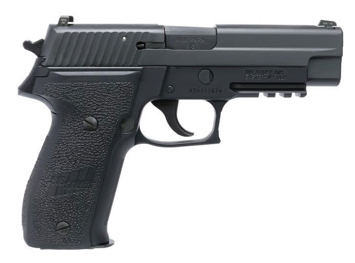Sig Sauer P226 9mm Pistol, Black Nitron Anchor Engraved3 15rd - MK25