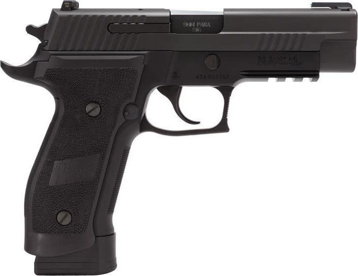 Sig Sauer P226 9mm Pistol, Tacops Black Magwell Grips Tuglo Threaded Barrel - E26R9TACOPSTB