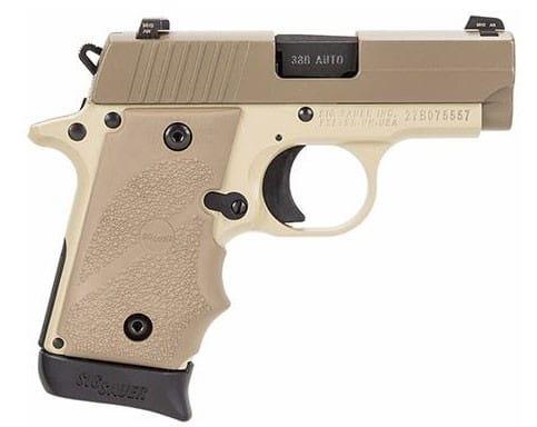 Sig Sauer P238 380 ACP Pistol, Desert Tan