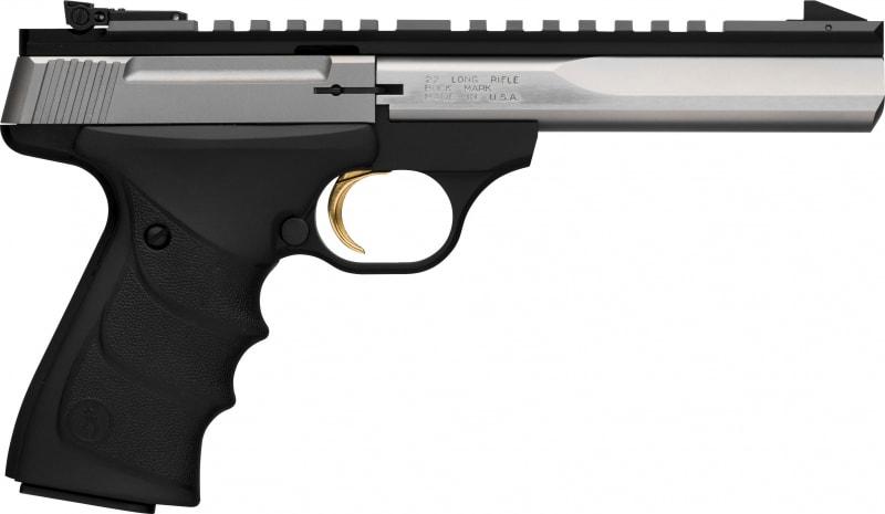 """Browning Buckmark Contour SS SAO 22LR, 5.5"""" 10+1 Black URX Grip - 051507490"""