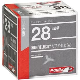 "Aguila 1CHB2878 Hunting High Velocity 28GA 2.75"" 3/4oz #8 Shot - 25sh Box"