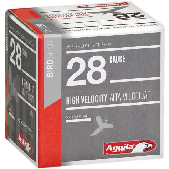"Aguila 1CHB2873 Hunting High Velocity 28GA 2.75"" 3/4oz #7.5 Shot - 25sh Box"