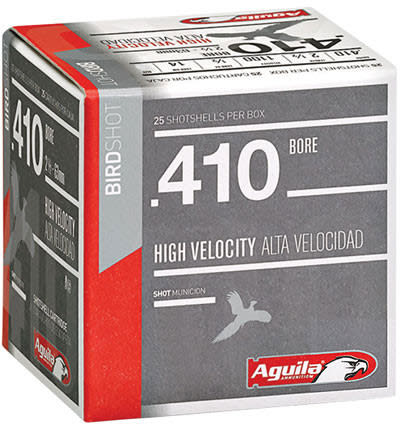 "Aguila 1CHB4137 Hunting High Velocity 410GA 2.5"" 1/2oz #7.5 Shot - 25sh Box"
