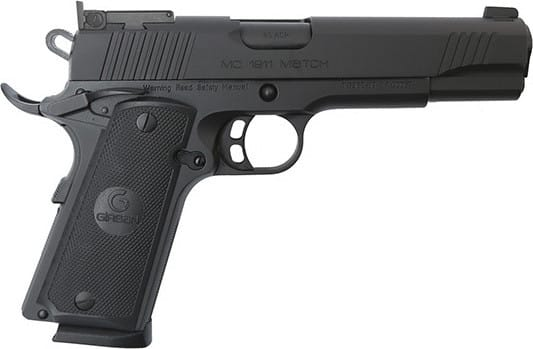 MKE Firearms 390090 MC1911 Match GOV'T ADJ. SGT Black