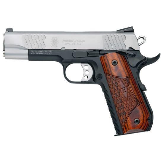 Smith & Wesson 108485 1911SC 45 ACP 4.25 E Series NS DUO Tone 8rd