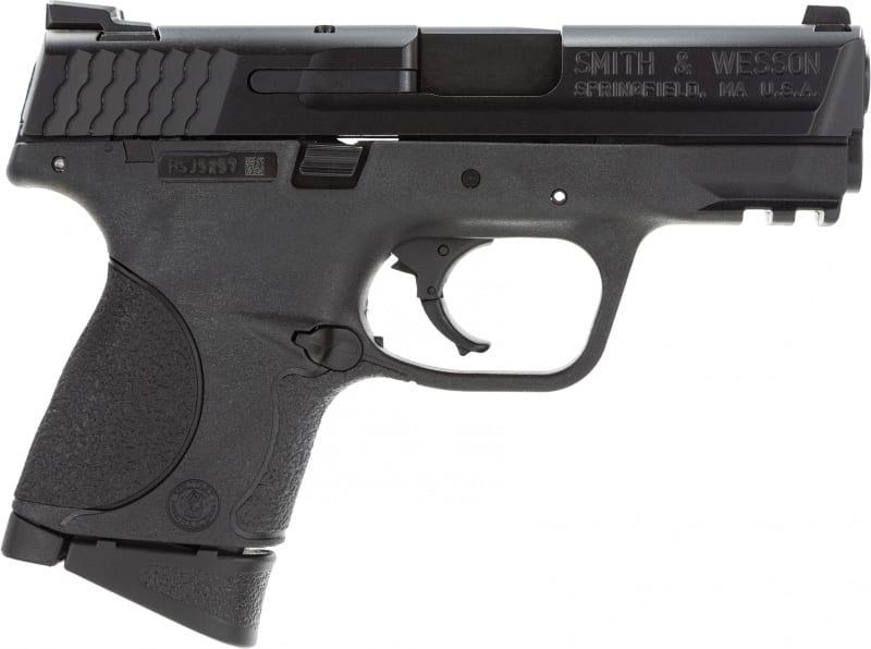 "Smith & Wesson 109204 M&P Double 9mm 3.5"" 10+1 Black Interchangeable Backstrap Grip Black"