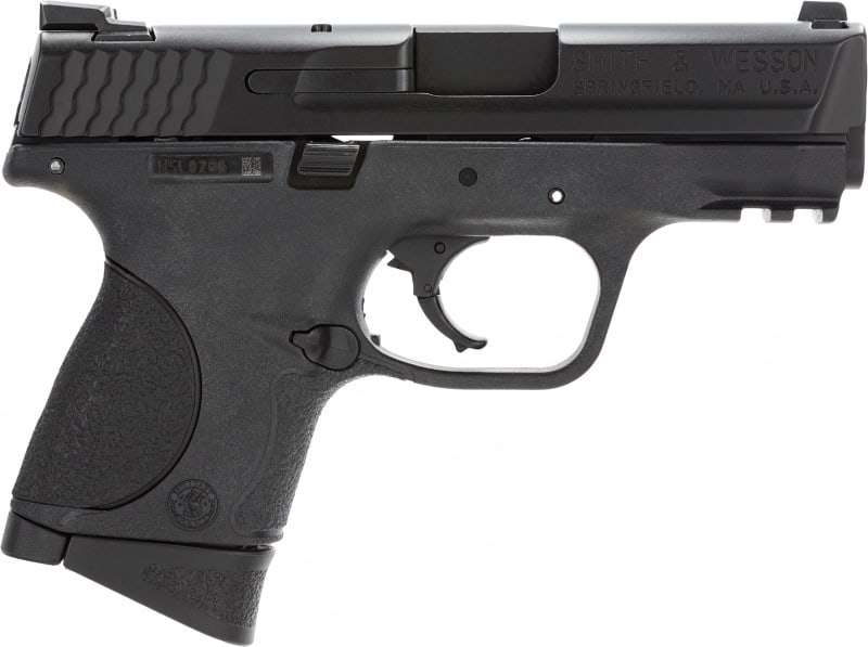 "Smith & Wesson 109253 M&P Compact State Compliant Double .40 S&W 3.5"" 10+1 Black Interchangeable Backstrap Grip Black"
