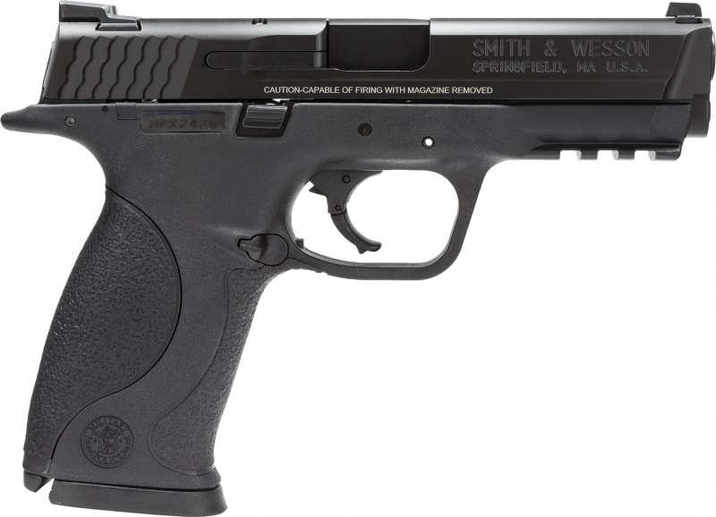 """Smith & Wesson 109301 M&P No Magazine Safety Double 9mm 4.3"""" 10+1 Black Polymer Grip Black"""