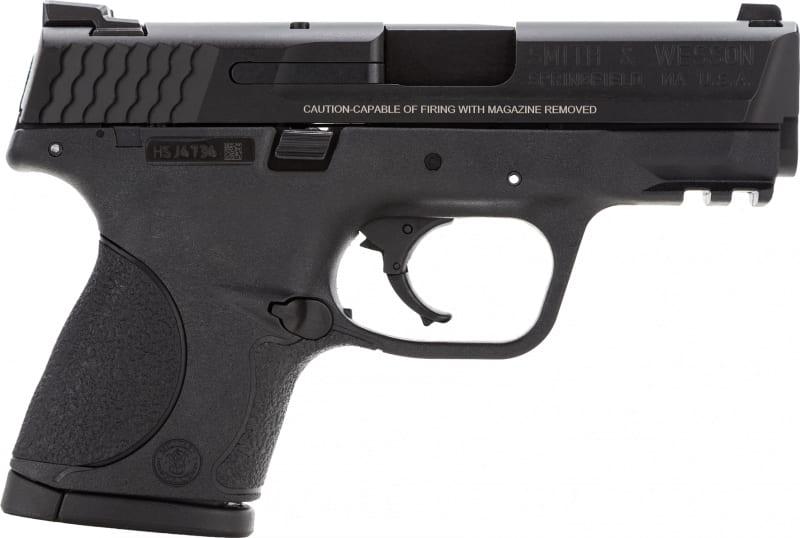 "Smith & Wesson 109303 M&P Compact Double .40 S&W 3.5"" 10+1 Black Interchangeable Backstrap Grip Black"