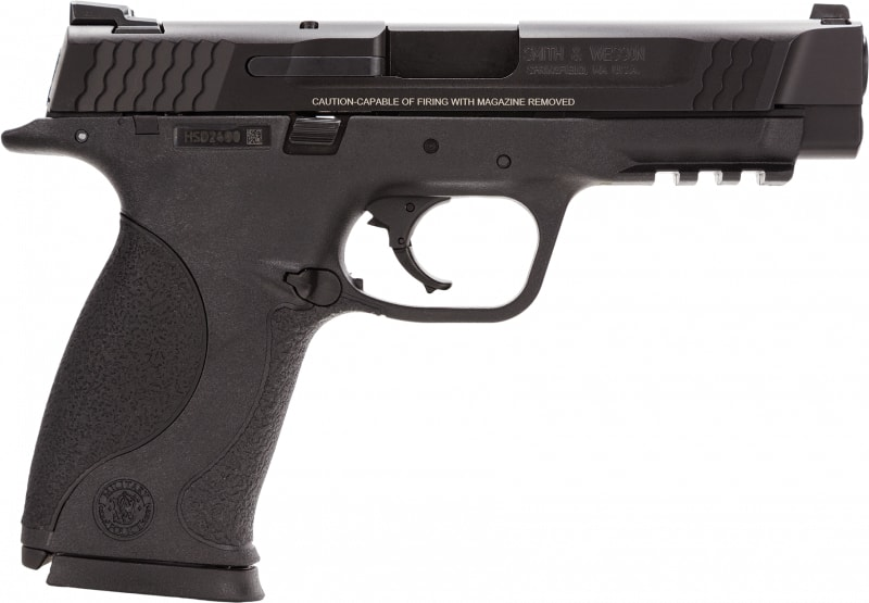 """Smith & Wesson 109306 M&P Double .45 ACP 4.5"""" 10+1 Black Interchangeable Backstrap Grip Black"""
