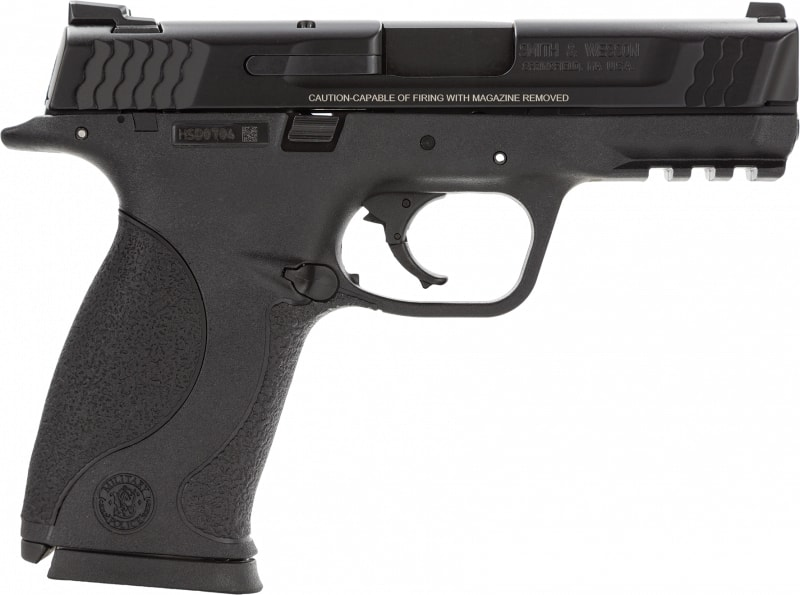"Smith & Wesson 109307 M&P Mid-Size Double .45 ACP 4"" 10+1 Black Interchangeable Backstrap Grip Black"
