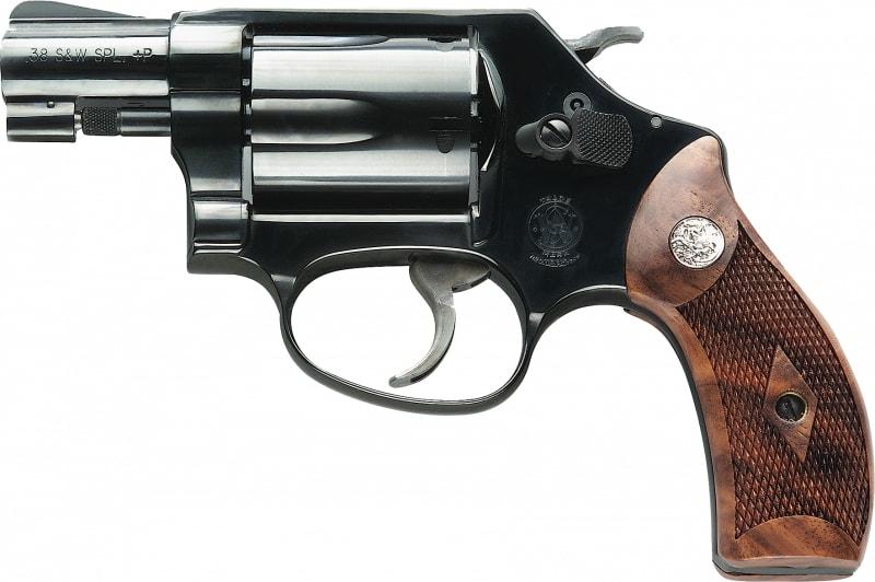 """Smith & Wesson 150184 36 Classic DA/SA .38 Special 1.875"""" 5 Wood Blued Revolver"""