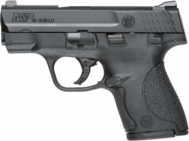 "Smith & Wesson 187020 M&P Shield *CA Compliant* Double .40 S&W 3.1"" 6+1/7+1 Black Polymer Grip Black"