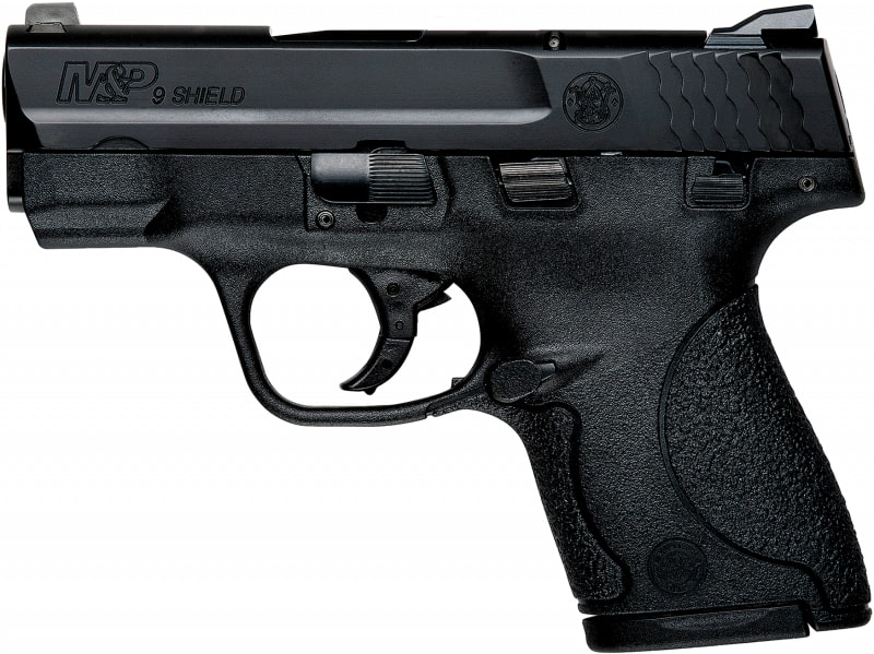 "Smith & Wesson 187021 M&P Shield *CA Compliant* Double 9mm 3.1"" 7+1/8+1 Black Polymer Grip Black"