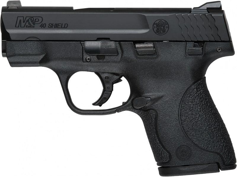 "Smith & Wesson 180050 M&P Shield *MA Compliant* Double .40 S&W 3.1"" 6+1/7+1 Black Polymer Grip Black"