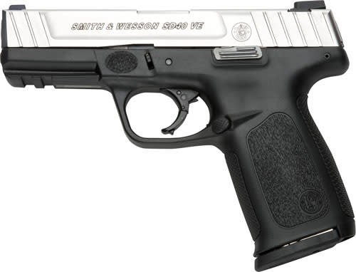 Smith & Wesson 123400 SD40VE 40 S&W 4 10rd SS Black Poly