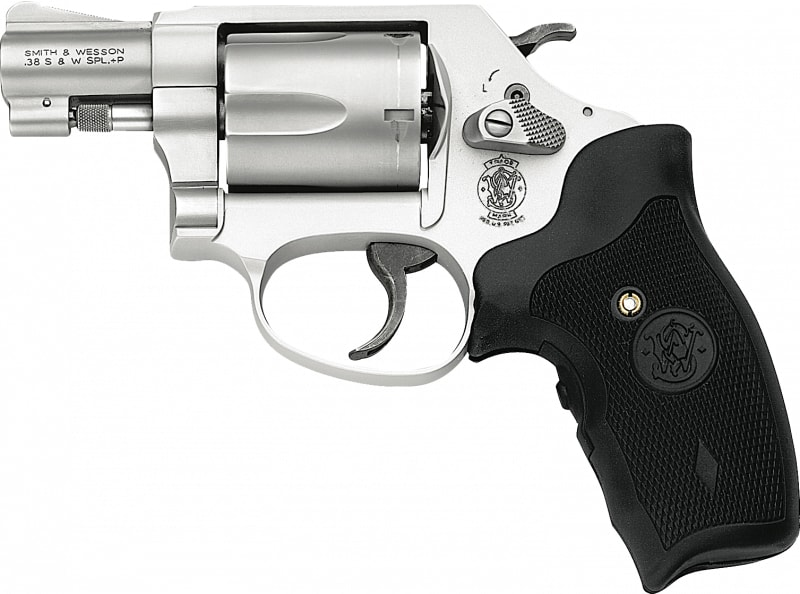 """Smith & Wesson 163052 637 Airweight with Crimson Trace Laser Grip DA/SA .38 Special 1.875"""" 5 Crimson Trace Laser Stainless Revolver"""