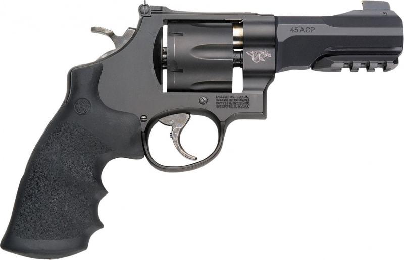 """Smith & Wesson 170316 325 Thunder Ranch DA/SA .45 ACP 4"""" 6 Black Synthetic Black Revolver"""