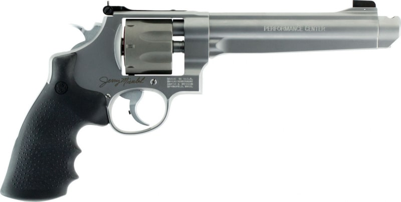 """Smith & Wesson 170341 929 Performance Center DA/SA 9mm 6.5"""" 8rd Black Synthetic Grip Titanium Cylinder MSS Revolver"""