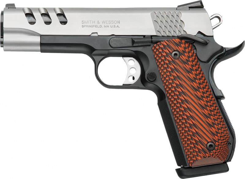 "Smith & Wesson 170344 1911 Performance Center DAO 45 ACP 4.25"" 8+1 Custom Wood G10 Grip Black"