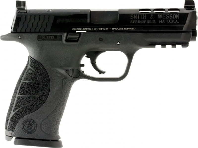 """Smith & Wesson 10099 M&P 40 Double .40 S&W 4.25"""" 15+1 Black Interchangeable Backstrap Grip Black Stainless Steel"""