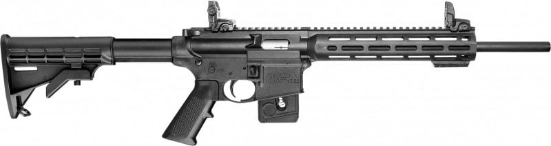 "Smith & Wesson 10207 M&P15-22 Sport Semi-Auto 22 Long Rifle 16.5"" 10+1 6-Position Black"