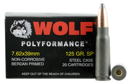 Wolf Military Classic 7.62x39 125gr Soft Point Ammo - 1000rd Case