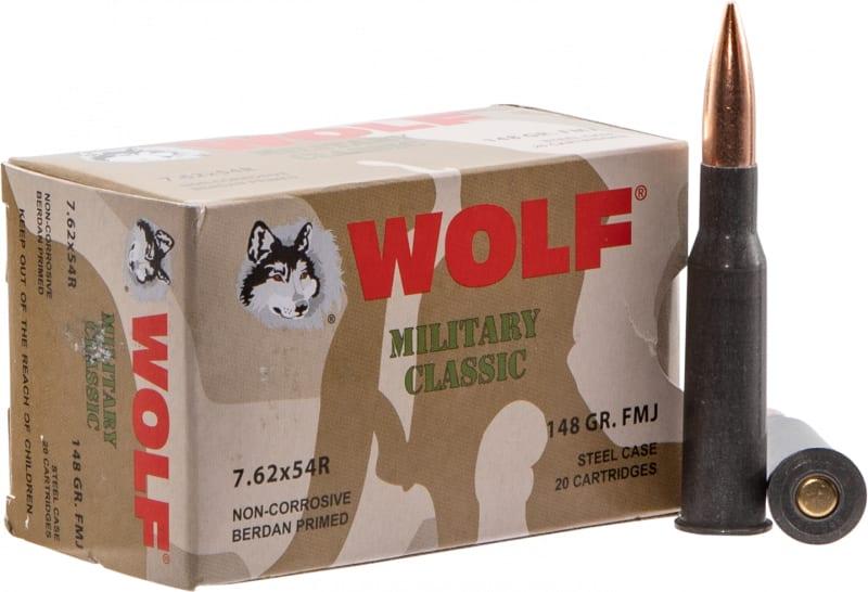 Wolf MC76254R148 MLT 7.62X54R FMJ 148 500 - 500rd Box