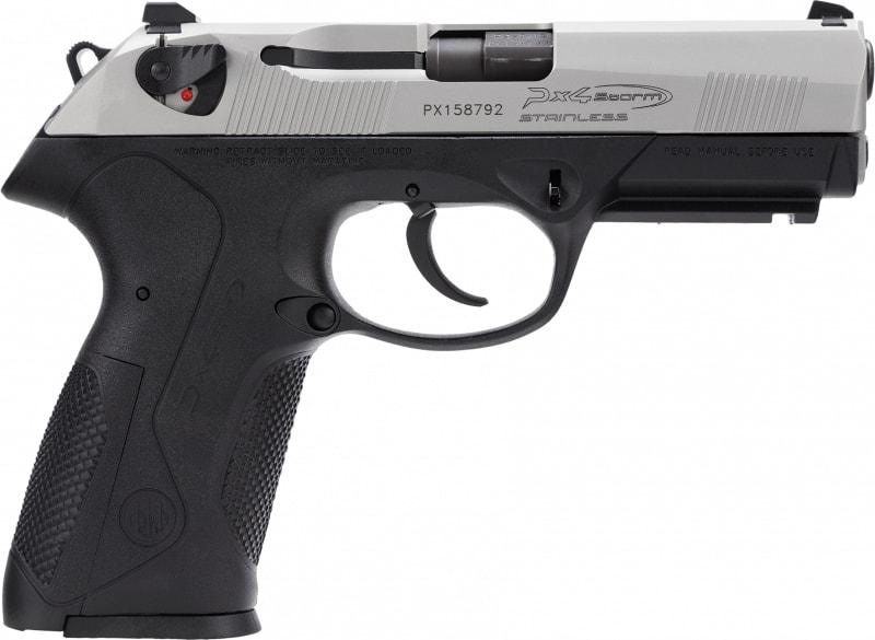 """Beretta JXF9F50 PX4 Storm Inox 9mm 4"""" 10+1 Black Poly Grip/Frame SS"""