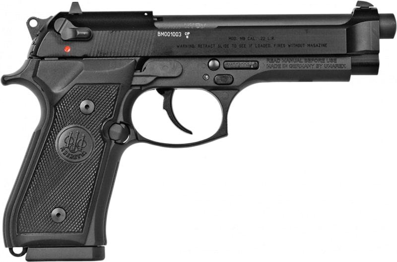 """Beretta J90A1M9A1F18 M9 22LR DA/SA 22 Long Rifle 4.9"""" 10+1 Black Rubber Grip Black Bruniton"""